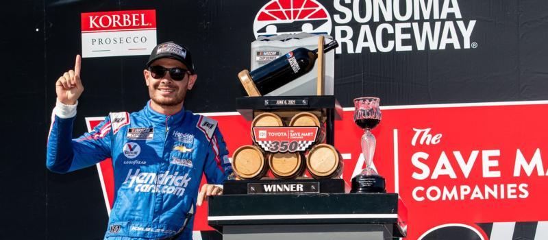 Kyle Larson wins the Toyota/Save Mart 350 at Sonoma Raceway